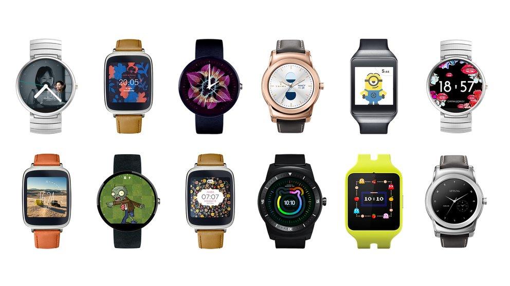 Android Wear: Update bringt interaktive und verlinkte Watchfaces&#x3B; G Watch R erhält WLAN