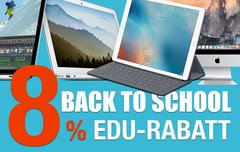 Back to School bei Mac und iPad Pro:<b> Noch schnell erhöhten Rabatt von 8% abgreifen!</b></b>