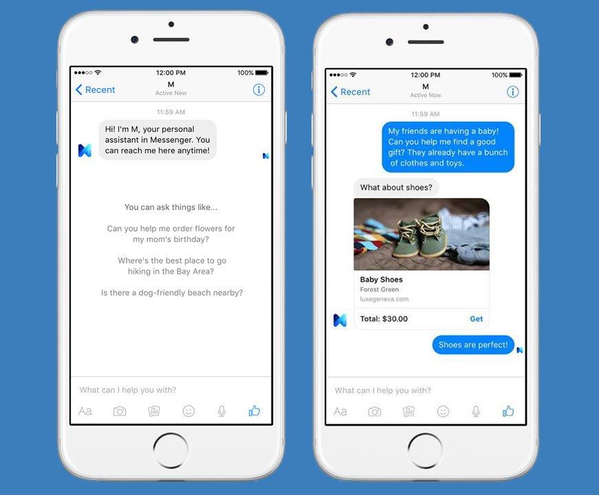 Facebook M: Ihr stellt dem Assistenten gewöhnliche Anfragen oder konkrete Aufgaben.