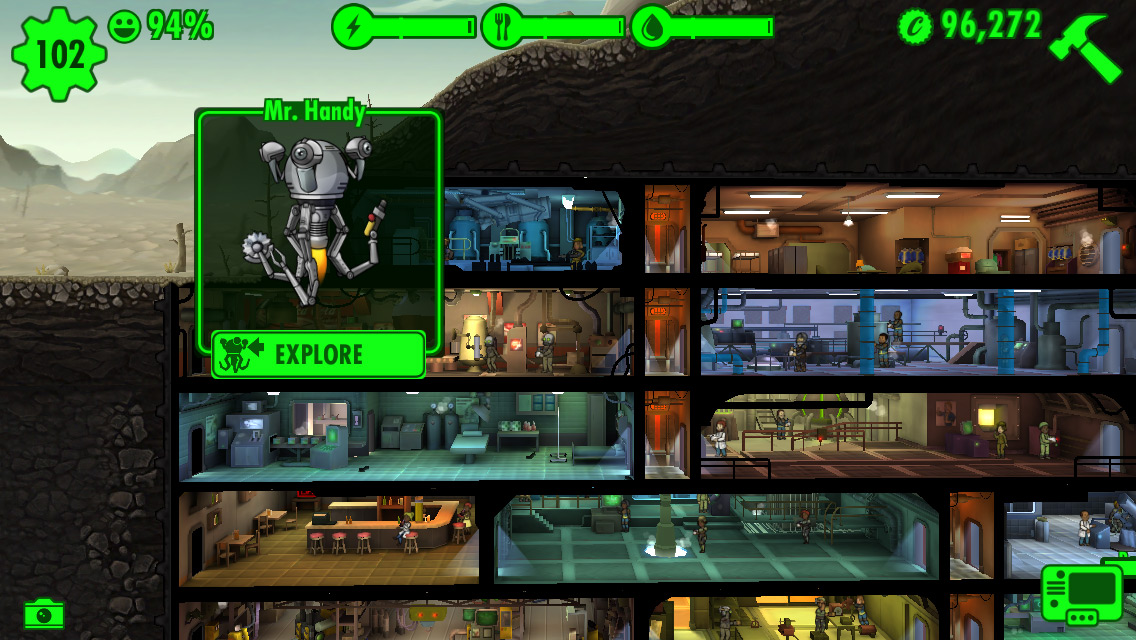 Fallout shelter mann mit mantel