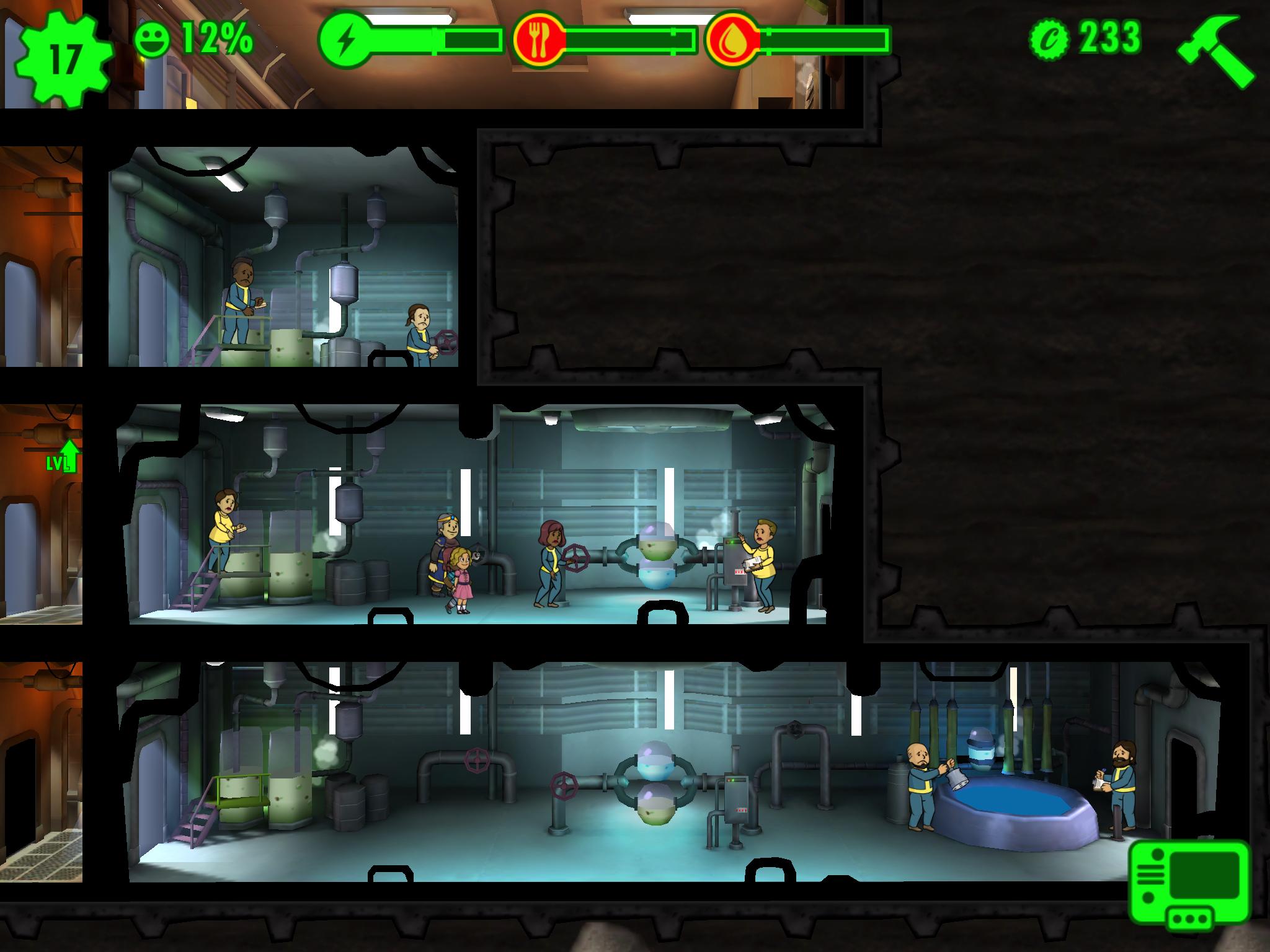 Fallout Shelter Räume