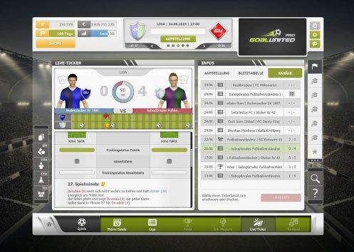 goalunited PRO: Spiele verfolgt ihr im Live-Ticker.