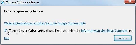 google-chrome-cleanup-keine malware
