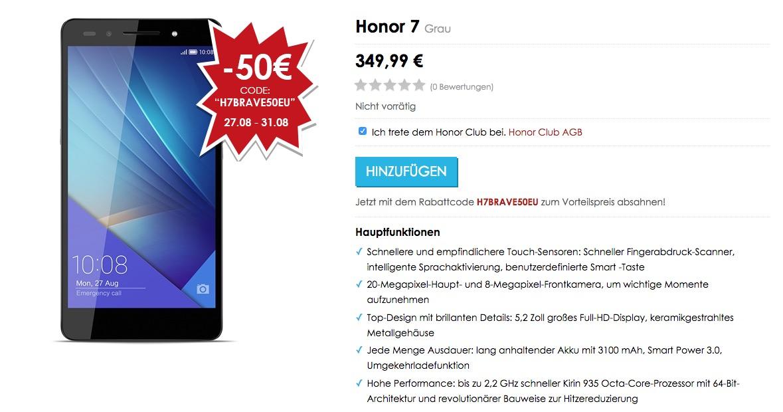 Honor 7 Deutschland Release