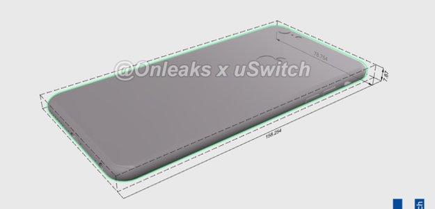 Renderings des iPhone 6s zeigen geringfügig dickere Gehäuse