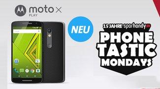 Das brandneue Moto X Play mit 500 MB Datenvolumen und 300 Minuten für 14,99 Euro im Monat