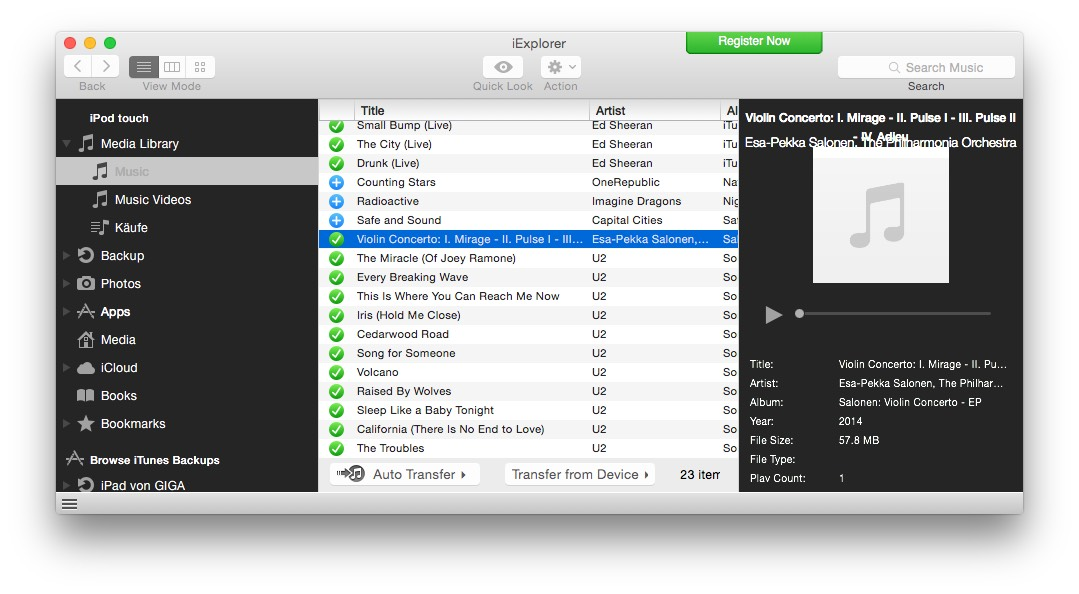 Musik Vom Iphone Ipod Ipad Auf Den Mac übertragen