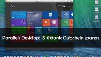 Nur an diesem Wochenende: 15 € sparen beim Kauf von Parallels Desktop 10 für Mac