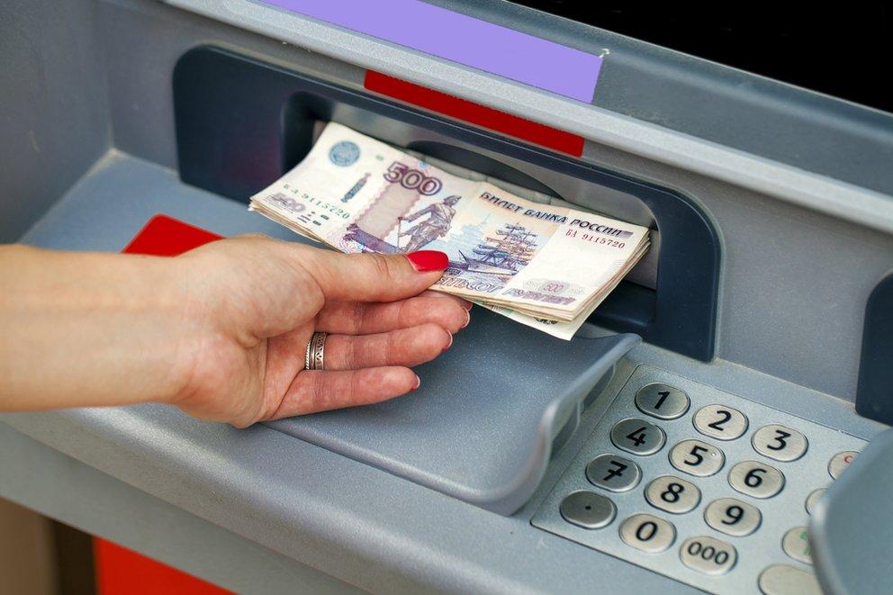 geld abheben russisches geld am automaten