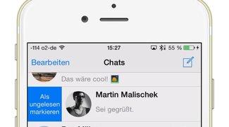 WhatsApp-Nachrichten auf dem iPhone als ungelesen markieren, so geht's