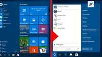 Windows 10: Altes Startmenü aus Windows 7 nutzen