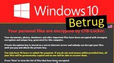 Windows-10-Betrug per E-Mail: CTB-Locker verschlüsselt Dateien – Was tun?