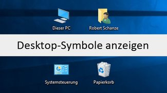 Windows 10, 7, 8: Desktop und Desktopsymbole anzeigen – Arbeitsplatz, Papierkorb, Eigene Dateien, Systemsteuerung etc.