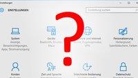 Windows 10: Einstellungen lassen sich nicht öffnen – Lösung