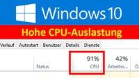 Windows 10: Hohe CPU-Auslastung und Hitze-Entwicklung mit Runtime Broker und WUDFHost.exe – Warum? Wie lösen?