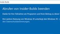 Windows 10: Insider-Programm verlassen – so geht's