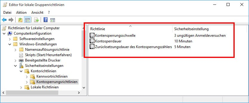 Windows 10: Konto nach falschem Passwort-Login sperren – So geht's – GIGA