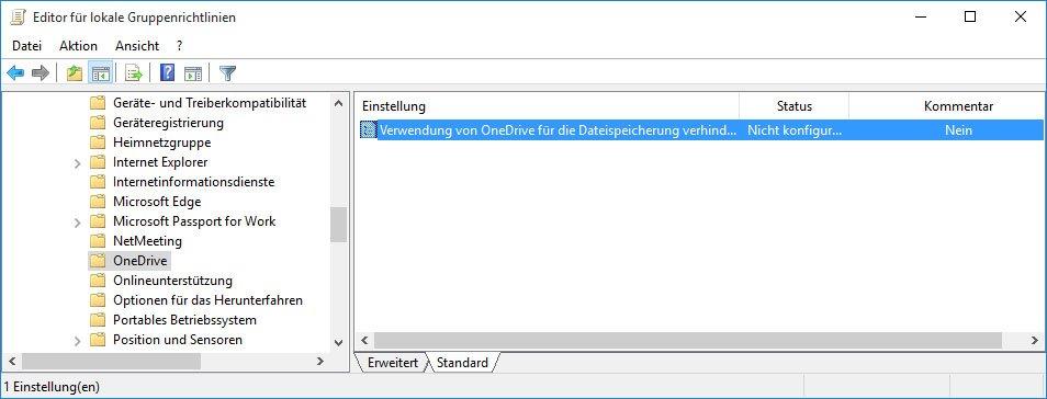 Windows 10: Hier deaktiviert ihr die Verwendung von OneDrive für die Datenspeicherung.