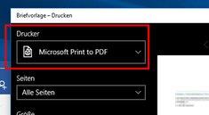 Windows 10: PDF erstellen – So geht's