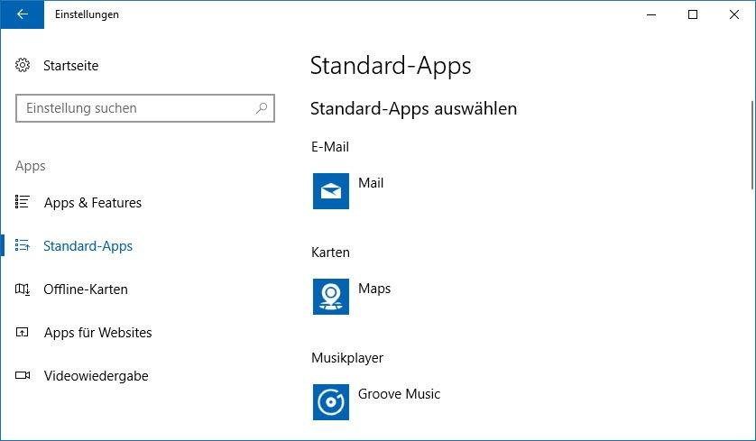Hier legt ihr Standard-Apps fest und ändert sie bei Bedarf.
