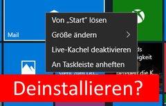 Windows 10: Standard-Apps...