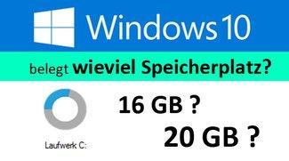 Wie groß ist Windows 10 nach der Installation?