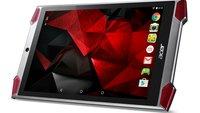Acer Predator 8: Gaming-Tablet mit Intel Atom x7-Prozessor und 4 Frontlautsprechern