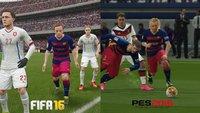 FIFA 16 vs. PES 2016: Wer hat die Nase vorne? Der ultimative Bildvergleich