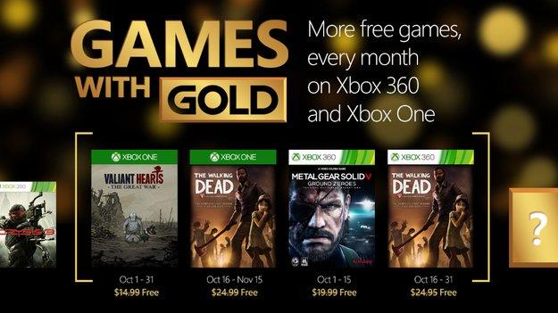 Games with Gold: Das gibt es im Oktober geschenkt