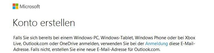 Hotmail Konto erstellen