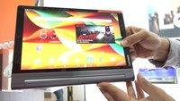 Lenovo Yoga Tab 3 Pro: 10-Zoll-Tablet mit integriertem Beamer im Hands-On [IFA 2015]