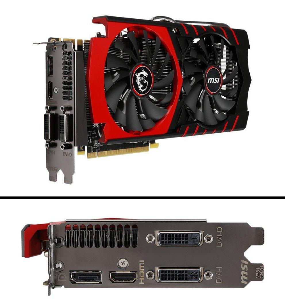 Die MSI GeForce GTX 970 Gaming 4G ist doppelt so hoch wie gewöhnliche Grafikkarten. Bildquelle: MSI