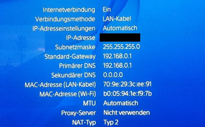 ps4 internetverbindung