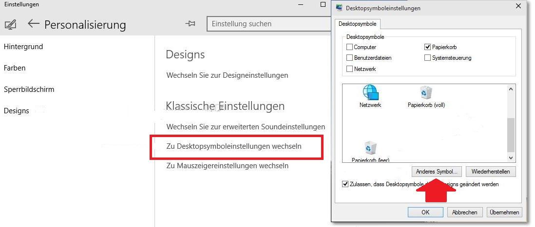 Windows 10: Papierkorb-Icon ändern und anpassen – So geht\'s – GIGA