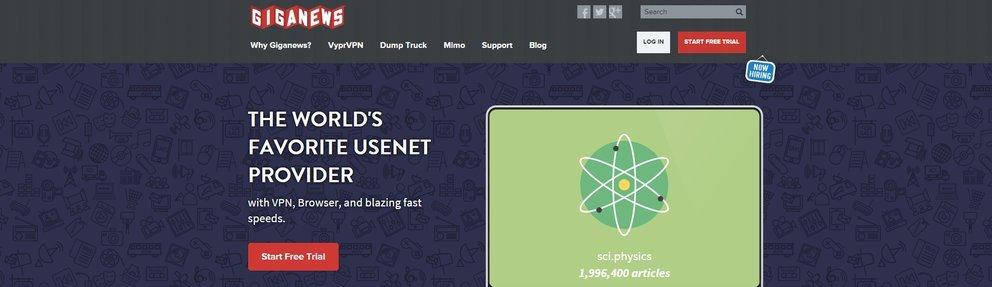 Giganews screenshot - kostenloser usenet testzugang