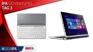 IFA-Gewinnspiel Tag 3: 1 x Acer Aspire Switch 10 E und 2 x Microsoft Universal Mobile Keyboards zu gewinnen