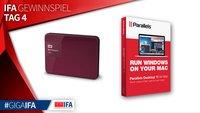 IFA-Gewinnspiel Tag 4: 2 x WD My Passport Ultras und 3 x Parallels Desktop 11 + Access 3.0 zu gewinnen