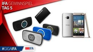 IFA-Gewinnspiel Tag 5: 1 x HTC One M9 und je 1 x Monster Superstar, Backfloat & Powercard zu gewinnen