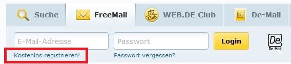 Web.de Registrieren