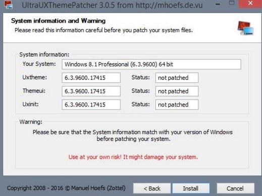 Windows 10 Themepatcher