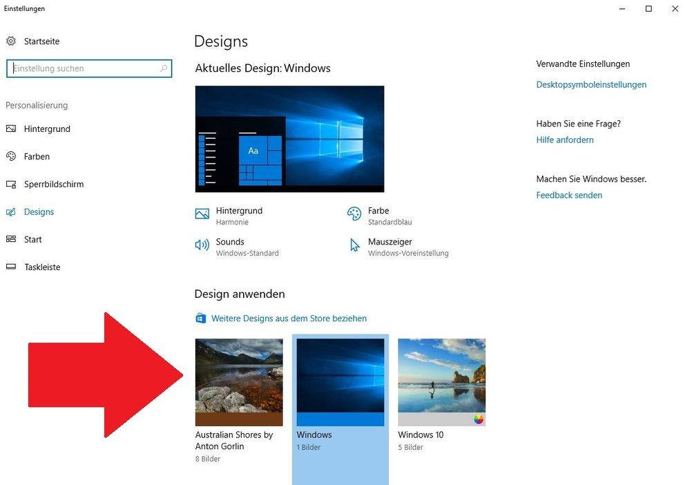 Windows 10 Themes und Designs
