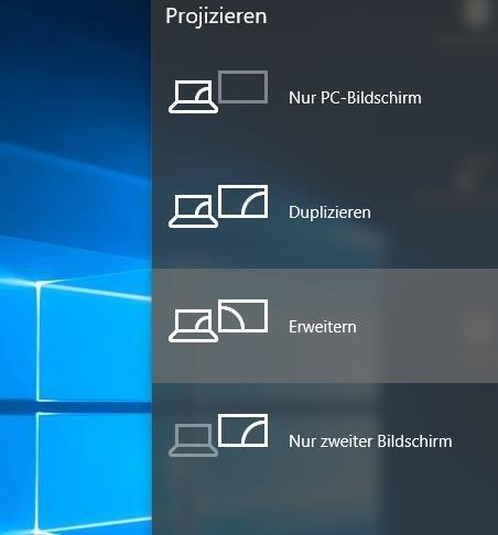 Windows 10 Zwei Bildschirme Menü