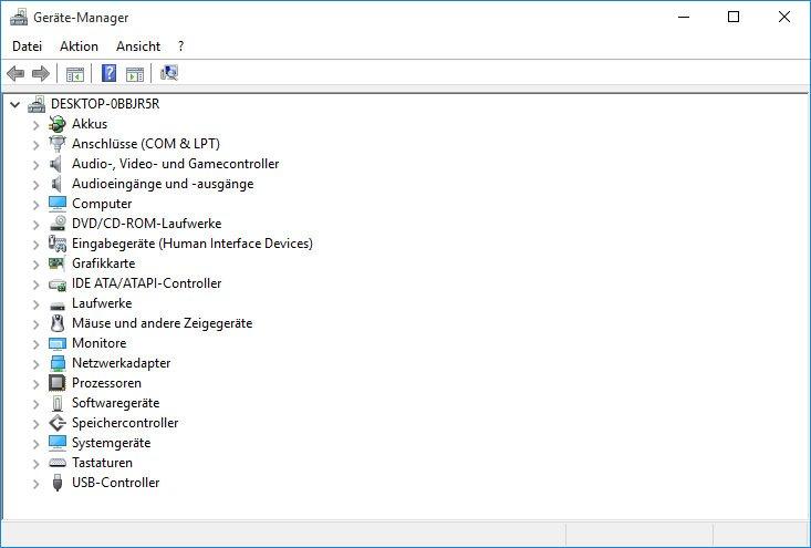Der Gerätemanager zeigt, welche Hardware und Geräte-Treiber installiert sind.