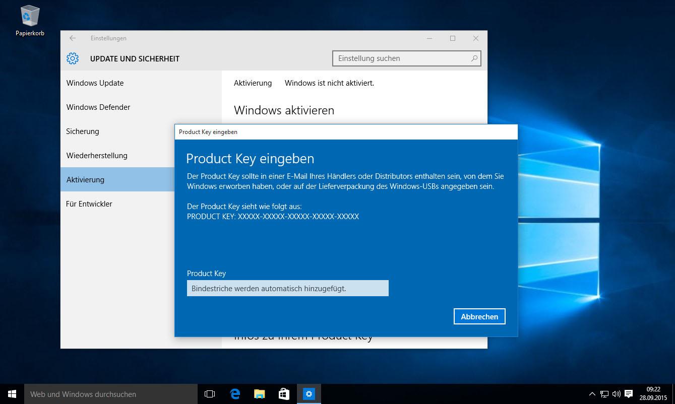 lizenziert durch windows 8 pro key im bios