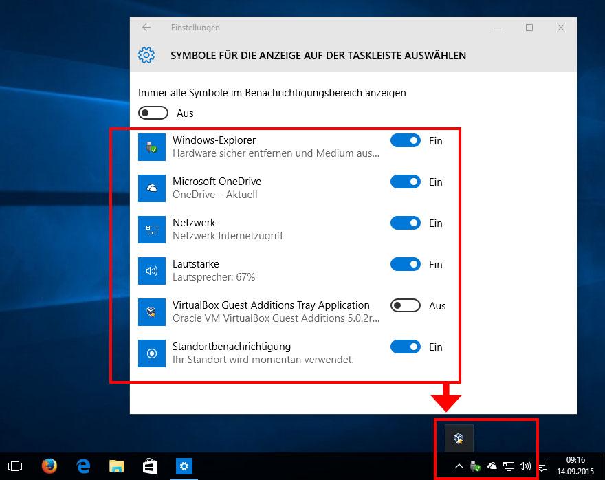 Windows 10: Taskleisten-Symbole ausblenden – So geht\'s – GIGA
