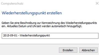 Windows 10 und 7: Wiederherstellungspunkt erstellen – so gehts