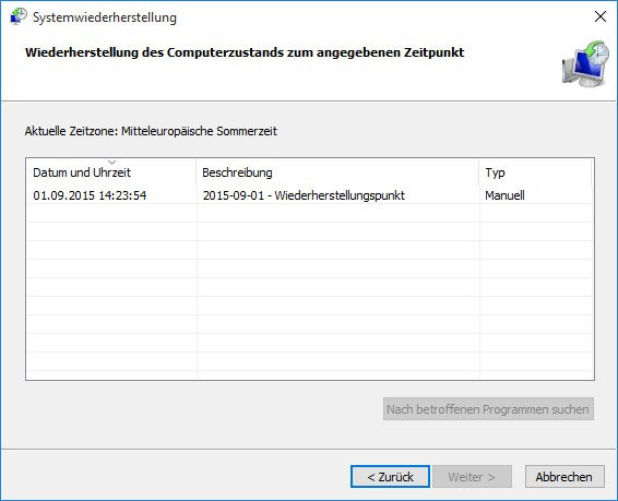 Windows 10: Hier stellt ihr den Wiederherstellungspunkt wieder her