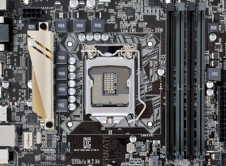 Skylake-Prozessoren brauchen ein Mainboard mit 1151-Sockel.