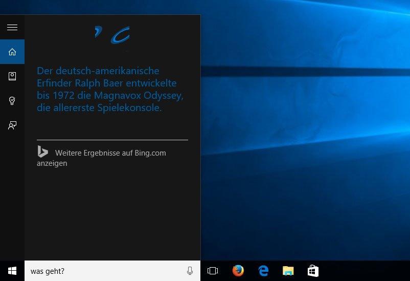 """Bei dem Befehl """"Was geht?"""" erzählt euch Cortana Trivial-Wissen."""