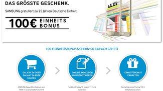 Samsung Galaxy S6 (edge): 100 Euro sparen per Cashback-Aktion